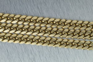 "Men's Modern Solid 10K Yellow Gold 128.30gr 9mm Cuban Link Chain 22.5"" Necklace"