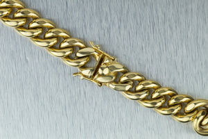 "Men's Modern Solid 14K Yellow Gold 108.5gr 12mm Cuban Link Chain 28.00"" Necklace"
