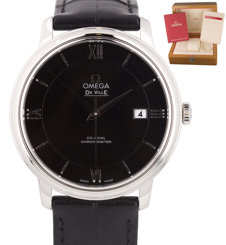 Omega De Ville Black Co-Axial 39.5 424.13.40.20.01.001 Stainless Steel Watch