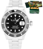 2003 Rolex Submariner Date Stainless Steel Black 40mm Dive Watch SEL 16610 T
