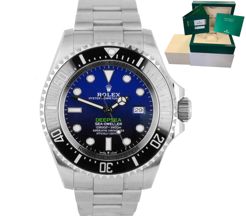 MINT SEPT 2019 Rolex Sea-Dweller Deepsea James Cameron Blue 44mm Dive 126660