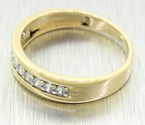 Vintage Estate 14k Solid Yellow Gold 0.50ctw Diamond Band Ring