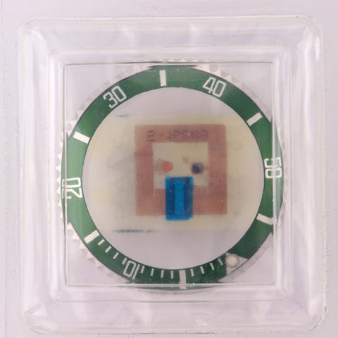BRAND NEW Rolex Flat 4 16610 LV Green Submariner Bezel Assembly and Insert Part