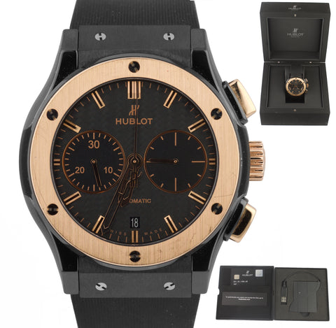 Hublot Classic Fusion Chronograph Black Ceramic Rose Gold 45mm 521.C0.1780.RX