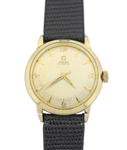 1950s Vintage Original Omega Bumper Automatic Gold Filled 34mm Dress Watch