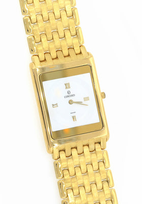 Concord Classic 18k Yellow Gold 24mm Smooth Bezel Watch 50.20.617DM 128g Box