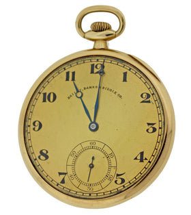 1915 Bailey Banks & Biddle Co. Antique 14k Gold Colonial Pocket Watch 54.1g