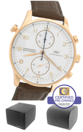 IWC Portuguese Chronograph Rattrapante Split Second 18K Rose Gold 3712 IW371204