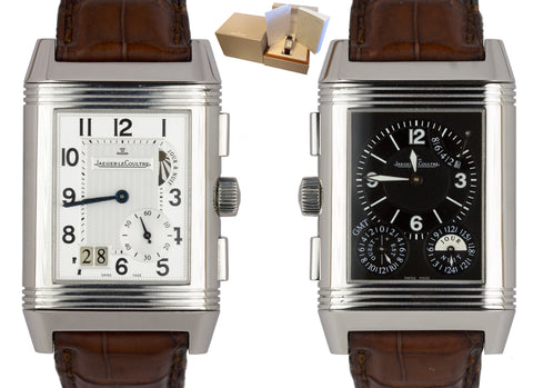 Jaeger LeCoultre JLC Reverso Grande GMT Date 240.8.18 Stainless Steel Watch