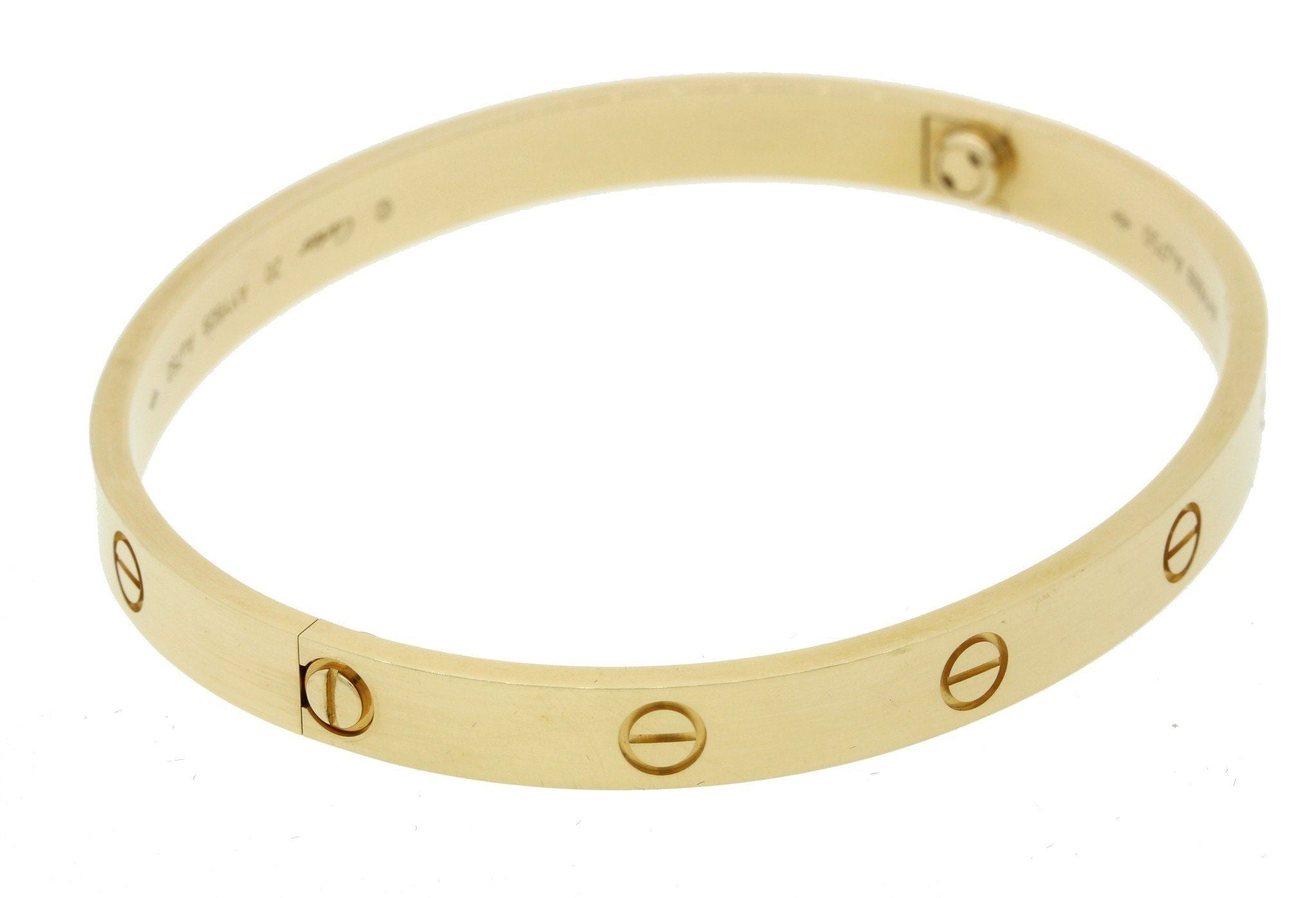 2019 Cartier 18k Yellow Gold New Style Screw Love Bangle Bracelet Sz 20 B+P