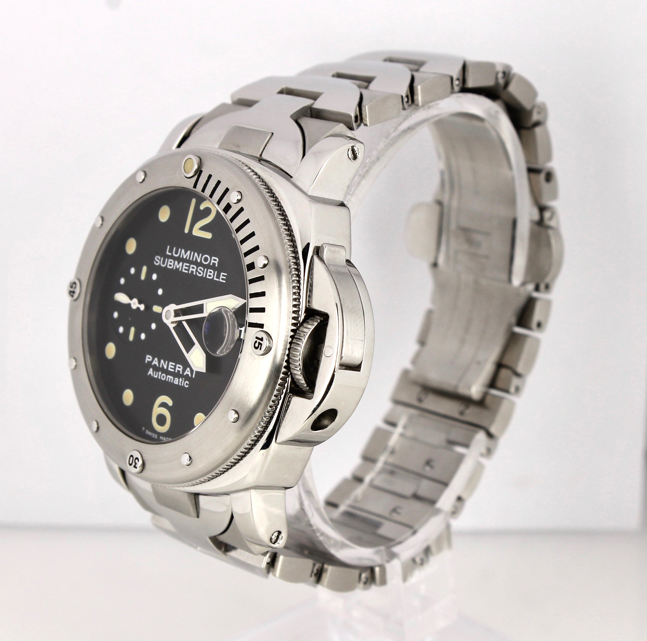 Panerai PAM 24 44mm Luminor Submersible Patina Steel Automatic Watch PAM00024