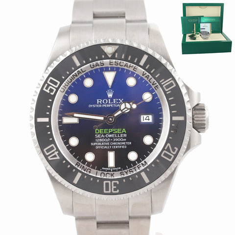 PAPERS 2015 Rolex Deepsea Sea-Dweller D-Blue 116660 Steel James Cameron Watch