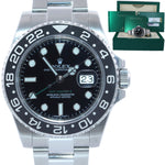 MINT 2018 PAPERS Rolex GMT Master 116710 Steel Ceramic 40mm Black Watch Box