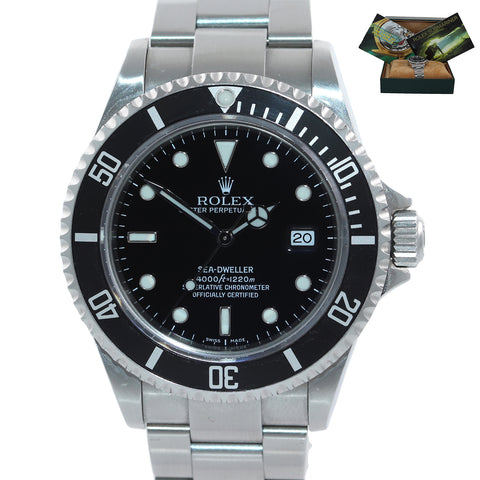 2005 MINT Rolex Sea-Dweller Steel 16600 Black Dial Date 40mm Watch Box