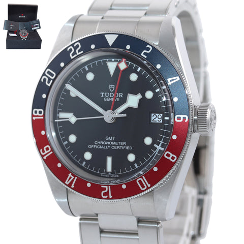 NEW PAPERS 2020 Tudor Black Bay GMT Pepsi 79830RB 41mm Steel Bracelet Watch Box