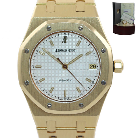 PAPERS 2020 SERVICE Audemars Piguet Royal Oak Yellow Gold 36mm 14790BA Watch