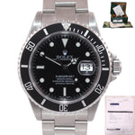 PAPERS & 2019 RSC Service Rolex Submariner 16610 SEL Steel Black Dial Watch Box