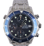 MINT Omega Seamaster Chronograpgh 300M 2599.80 Blue Wave Automatic 41.5mm Watch