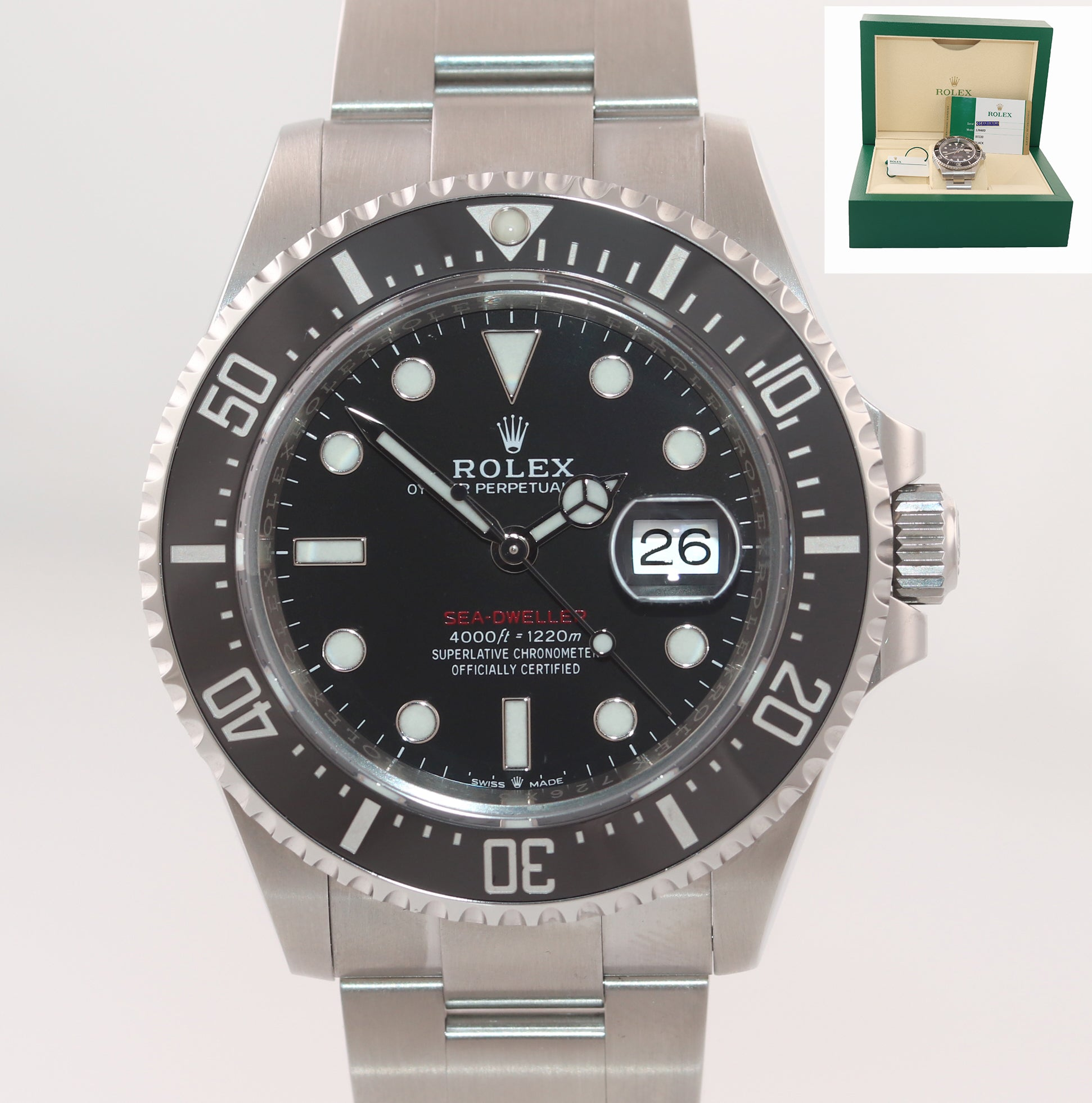 STICKERS PAPERS MK2 Rolex Sea-Dweller Red SD43 126600 Steel 43mm Watch Box