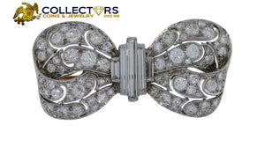 Vintage 1990s Art Deco 6.06 Carat Diamond and Platinum Butterfly Brooch Pin