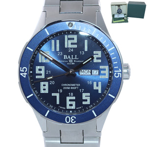 2019 Ball Roadmaster StarLight DM3050B Steel Day Date Chronometer 43mm Watch