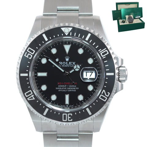 NEW CARD 2020 PAPERS Mark II Rolex Red Sea-Dweller 43mm 126600 Steel Watch Box