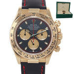 PAUL NEWMAN Rolex Daytona 116518 Gold Black Dial 18k Yellow Gold Leather Watch