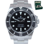 MINT 2019 Rolex Submariner No Date 114060 Steel 40mm Black Ceramic Watch Box