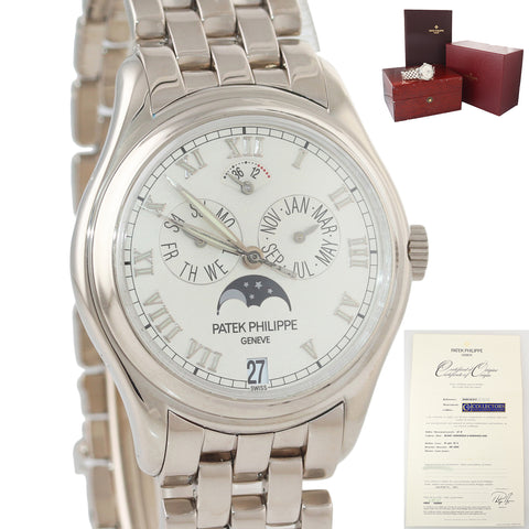 PAPERS Patek Philippe Annual Calendar White Gold 37mm 5036g Watch 2020 SERVICEDb