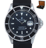 TRITIUM Rolex Submariner Date 16610 Stainless Steel Black NATO 40mm Dive Watch