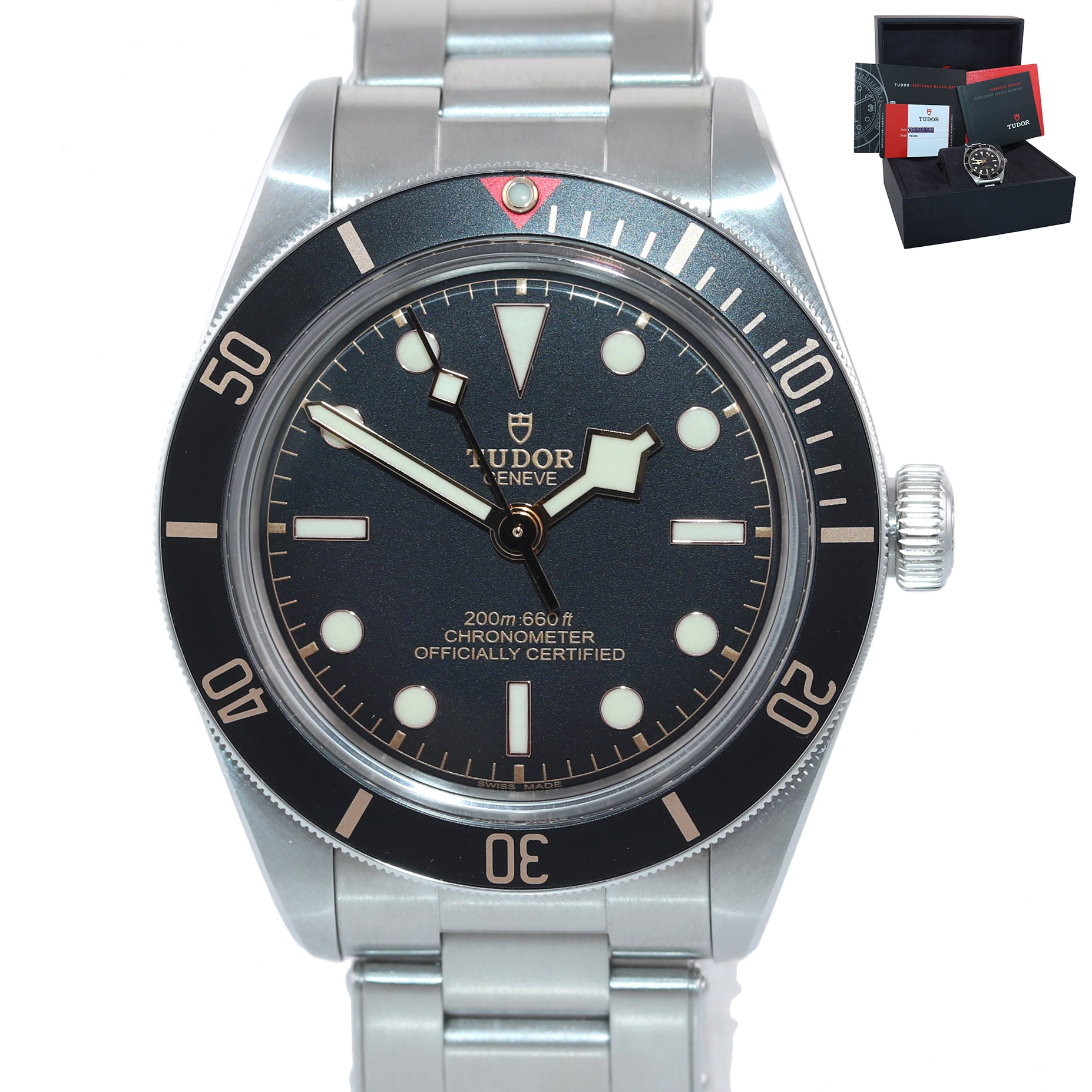 MINT 2019 Papers Tudor Black Bay Fifty-Eight 58 39mm Steel Watch 79030N Box