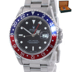 SERVICED Rolex GMT-Master Tritium Dial Pepsi Blue Red Steel 40mm 16700 Watch
