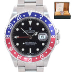 BLRO BOX & PAPERS Rolex GMT-Master 2 Pepsi Red Blue Steel 16710 40mm Watch Box
