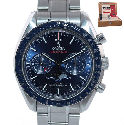 PAPERS Omega Speedmaster  BLUE Moonphase 304.30.44.52.01.001 44mm Steel Watch