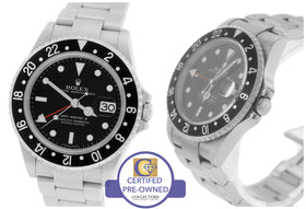 2006 MINT Men's Rolex GMT-Master II 16710 Black 40mm Stainless Date Watch SEL