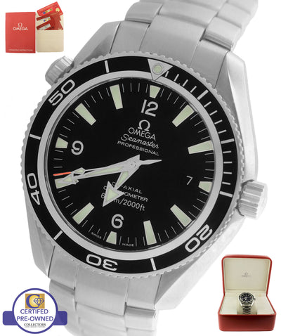 Omega Seamaster Planet Ocean Black 42mm Co-Axial 600M 2901.50.81 Watch 2201.50