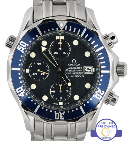 MINT Omega Seamaster Professional Chronograph 300M 2599.80 Blue Wave Automatic