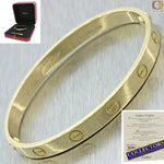 2010 Cartier 18k Solid Yellow Gold Love Screw Bangle Bracelet 17 Box Papers