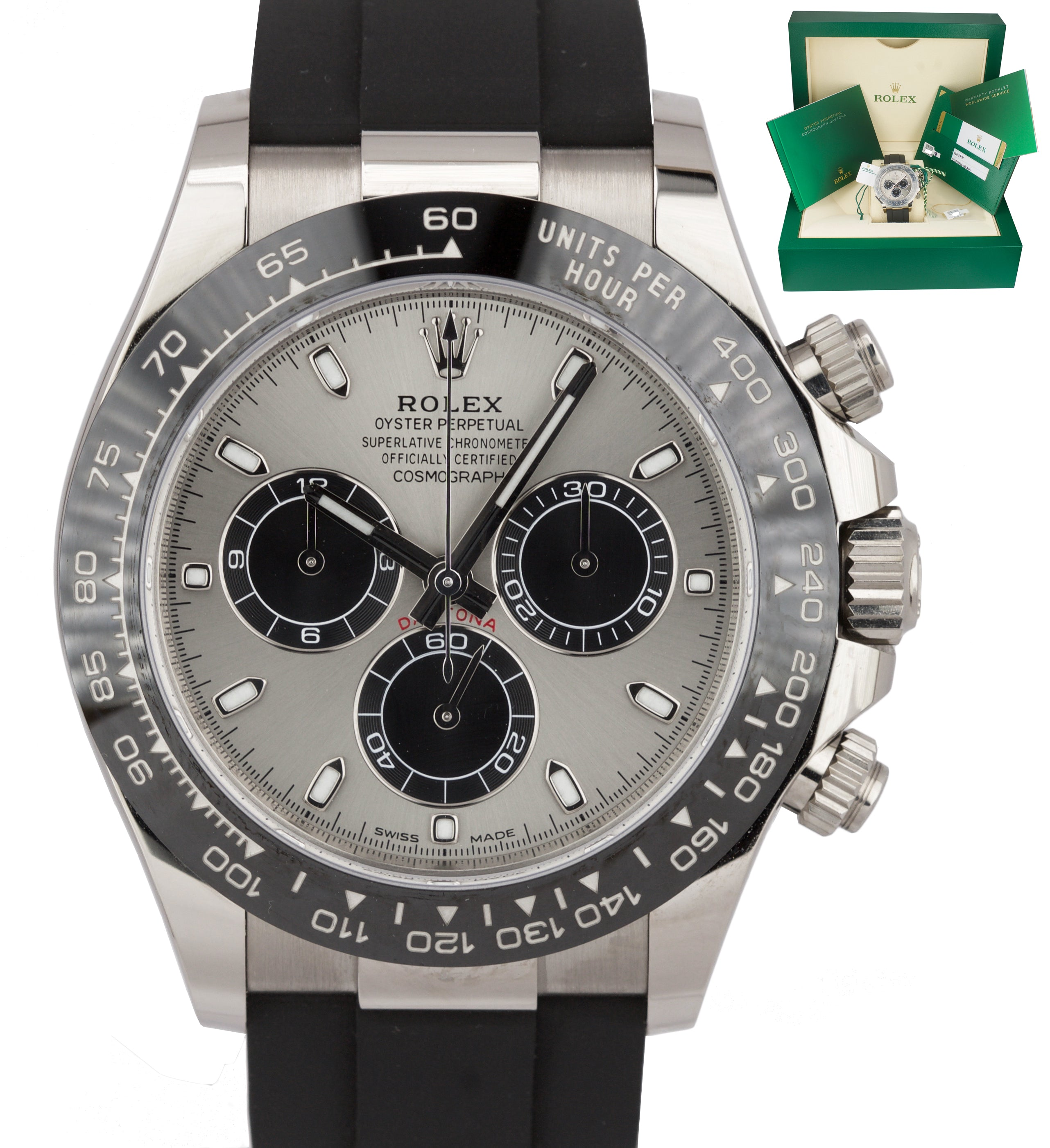 BRAND NEW Rolex Daytona Cosmograph 116519 18K White Gold Chronograph 40mm Watch