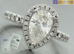 Modern Estate 2.09ctw Pear Brilliant Diamond 14K Gold Engagement Ring EGL USA