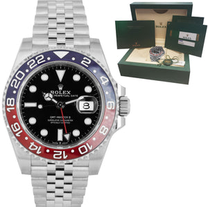 BRAND NEW JUNE 2020 Rolex GMT Master II PEPSI Red Blue Ceramic 126710 BLRO Watch
