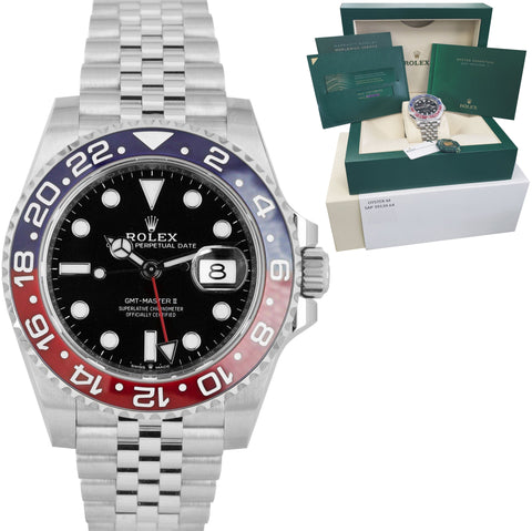 NEW JULY 2020 Rolex GMT Master II PEPSI Black Blue SS Ceramic 40mm 126710 BLRO