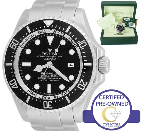 2013 MINT Rolex Sea-Dweller Deepsea 116660 Stainless Steel 44mm Black Dive Watch