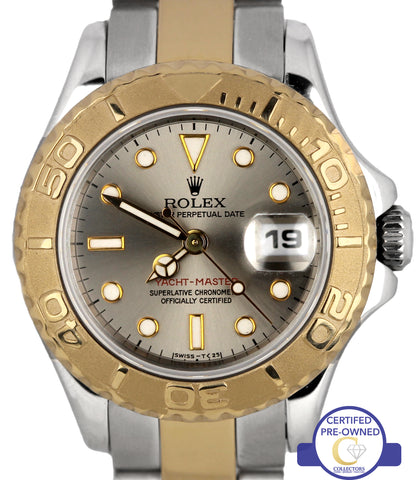 Ladies Rolex Yacht-Master 69623 T 29mm 18K Two Tone Gold Stainless Swiss Watch
