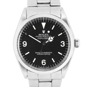 Men's Vintage Rolex Oyster Perpetual Explorer Precision 5500 Black 34mm Watch
