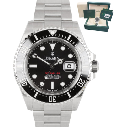 BRAND NEW 2020 Rolex Red Sea-Dweller 43mm 50th Anniversary Steel 126600 Watch