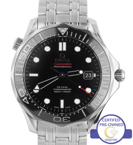 Omega Seamaster 41mm Black Co-Axial 300M 212.30.41.20.01.003 Stainless Watch