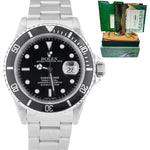 2000 Men's Rolex Submariner Date 16610 40mm Black A Stainless Steel Dive Watch