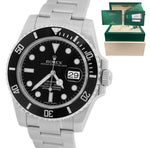 2018 Rolex Submariner Date 116610 LN Stainless Black Dive Ceramic 40mm Watch