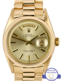 1969 Rolex Day-Date President Champagne 36mm 1803 18K Yellow Gold Watch 18038